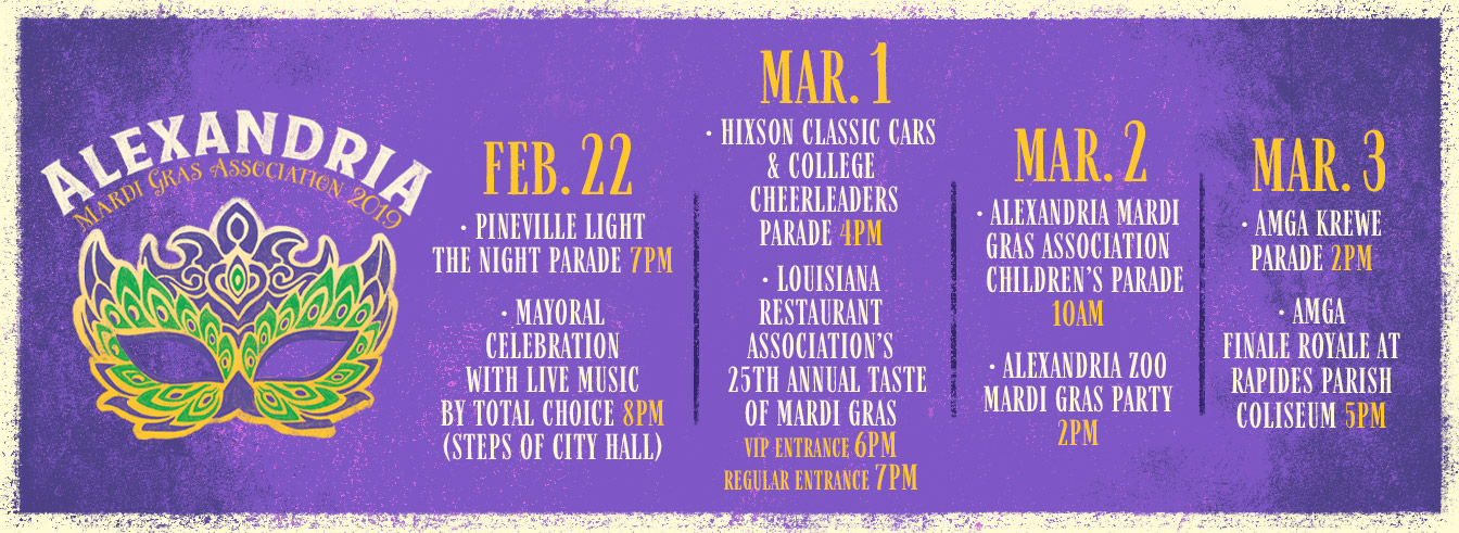 City of Alexandria Mardi Gras Events