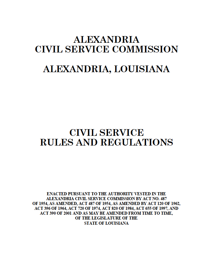 RFP's RFQ's and Bid Packages | City of Alexandria, LA