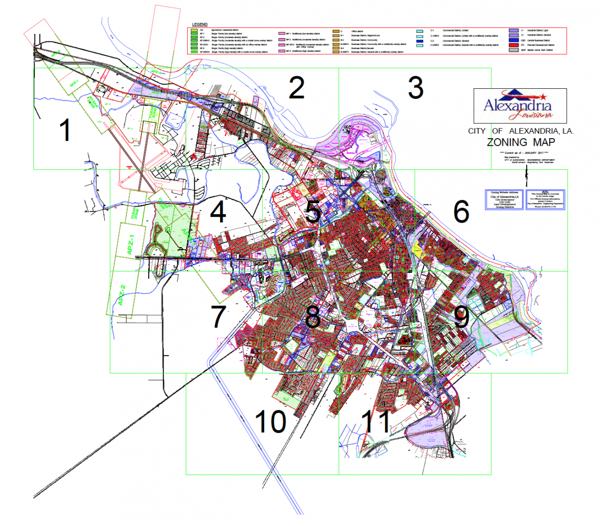 Zoning Map - City of Alexandria Louisiana