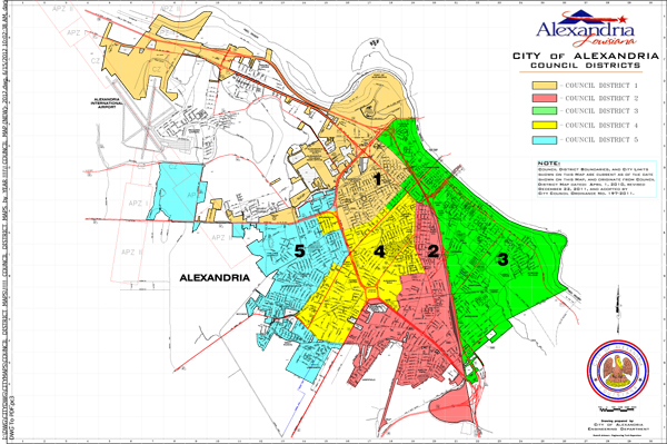 Council District Map City of Alexandria