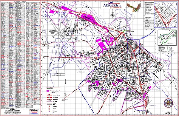 Council District Map City Of Alexandria - Louisiana map alexandria