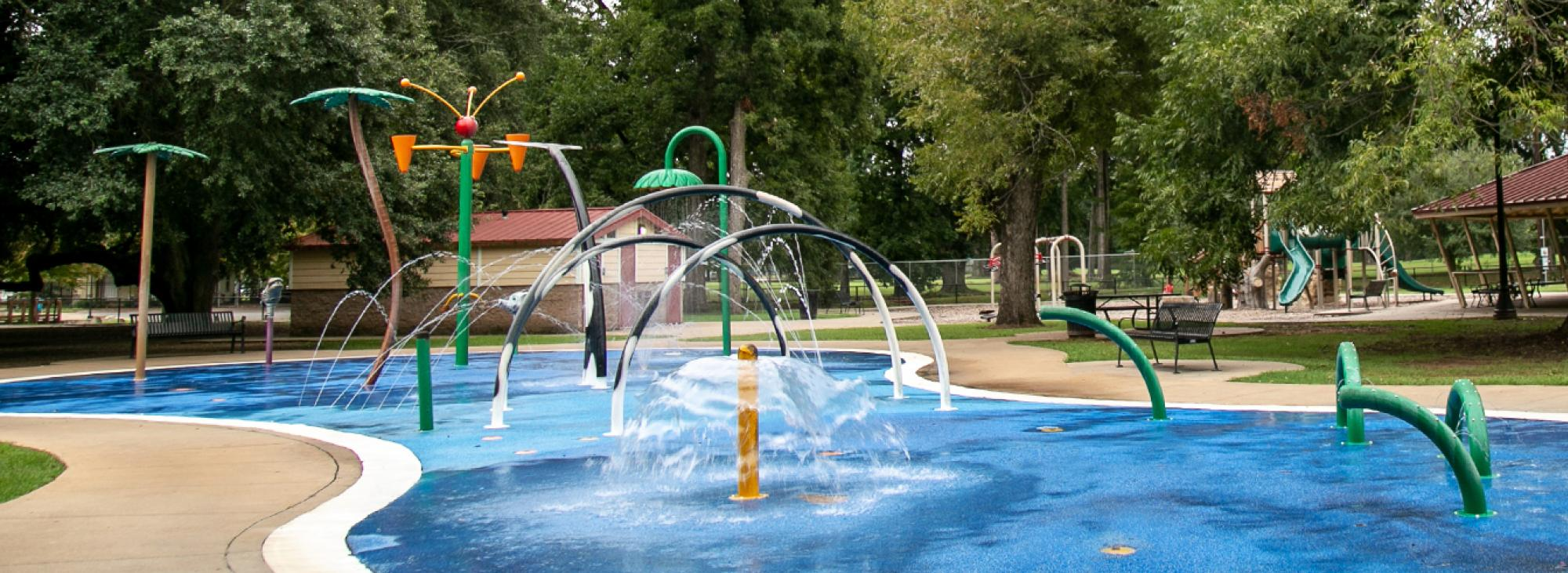 City Park playground Splash Pad in Alexandria la