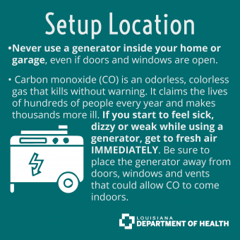 generator setup location for safety